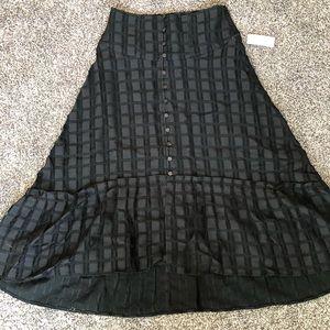 Maeve by Anthropology black high waist skirt